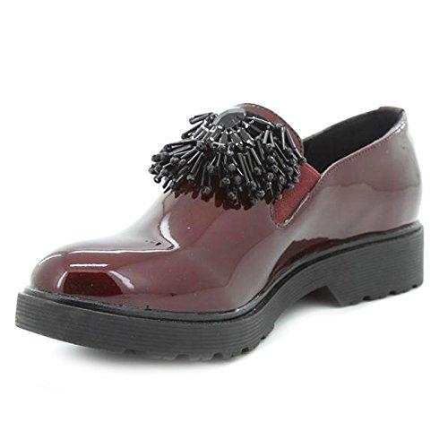 Toocool - Chaussures Femme Mocassin Brillant Francesine Carrarmato Perles Queen Helena Qh17036 Rouge
