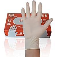 Prom-note 1 Schachtel Latex-Haushaltshandschuhe, gummireines, rutschfestes, wasserdichtes Haushaltsgeschirr, geeignet für Frauen (50 Paar) (Color : 100pcs per Box, Size : L)