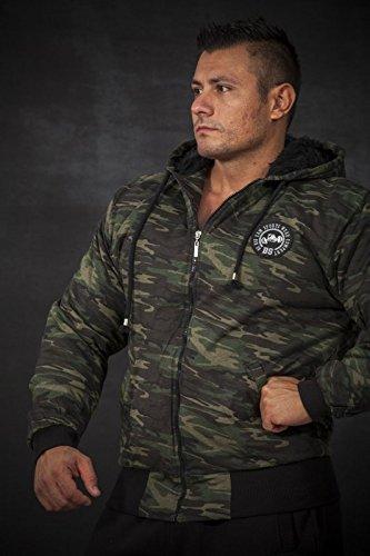 BIG SAM SPORTSWEAR COMPANY Camouflage KAPUZENJACKE Jacke Winterjacke Bomberjacke *4060* - 2