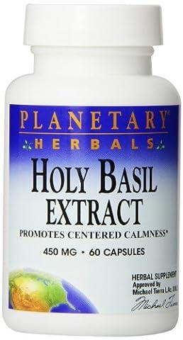 Planetary Herbals Holy Basil, 60 Caps, 450 Mg