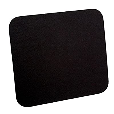 ROLINE 18.01.2040 Negro alfombrilla para ratón - Alfombrilla de ratón (Negro, Monótono, Nylon, 253 mm, 220 mm, 7 mm)