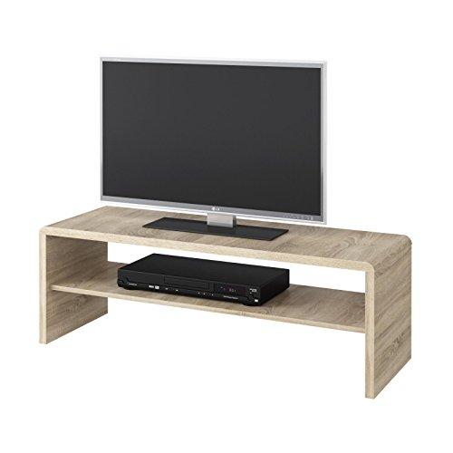 CARO-Möbel Couchtisch TV Lowboard Fernsehtisch Lexa, in Sonoma Eiche, 120 x 40 cm, mit Ablagefach -