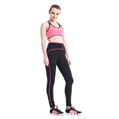 Pantalon de sport Ularmo Sports Femme Pantalons athlétique Gym Fitness Leggings Yoga Pants Rose