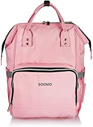 Amazon Brand - Solimo Baby Diaper Bag, Pink