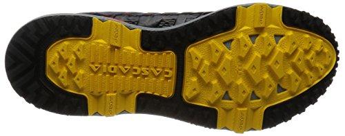Brooks Cascadia 11, Chaussures de Trail Homme Multicolore (RiverRock/CherryTomato/Spectra)