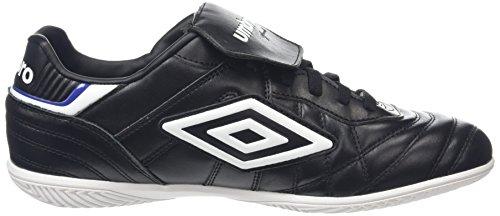 Umbro Speciali Eternal Premier Ic, Chaussures de Football Entrainement Homme Noir (Black/White/Clematis Blue)