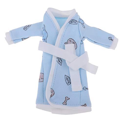 Fenteer Mädchen Puppe Winter Pyjama Nachtwäsche Nachthemd Puppenkleidung Für 1/6 Xinyi, Licca-Puppe - # 4 (Puppe Nachthemd Und Mädchen)