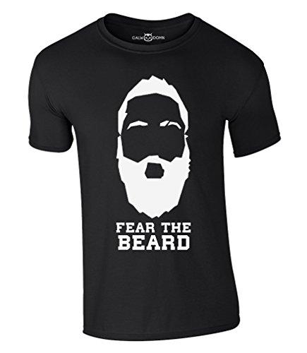 Die New T-shirt (Fear The Beard T-Shirt 2017 New James Harden Houston Rockets NBA (XXL, Schwarz))