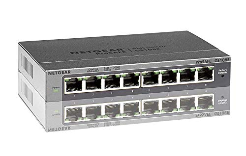 Netgear GS108E-300PES - Switch conmutador