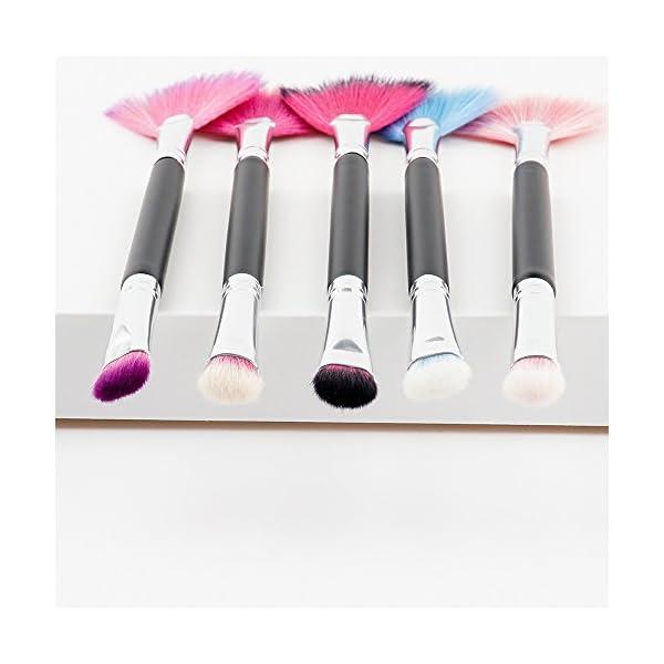 2019 Nuevo brochas de maquillaje,ZARLLE 1pc pincel de maquillaje con forma de sector,brochas de maquillaje real techniques,cepillo de ojos (Una talla, A)