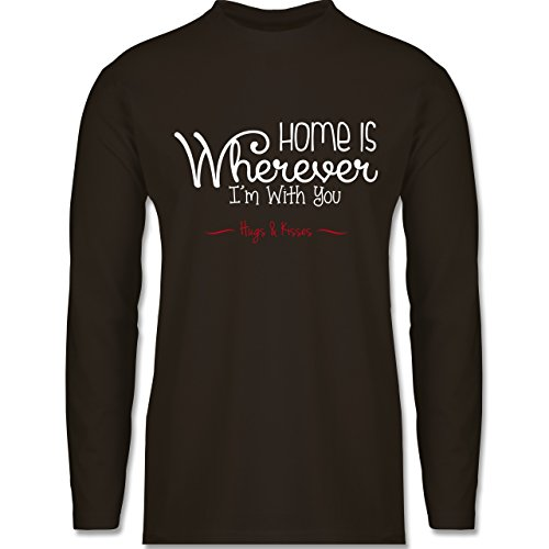 Statement Shirts - Home Is Wherever I'm With You Hugs & Kisses - Longsleeve