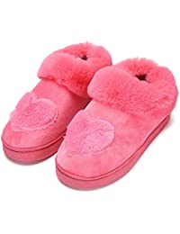 LOMYEN Herbst Und Winter Soft Home Hausschuhe Innen Warme Damen Hausschuhe Rutschfeste Schuhe Pflege Heel Schuhe