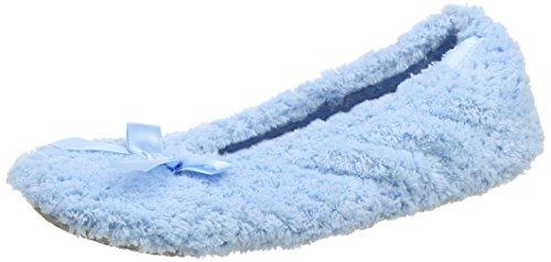 Ladies Popcorn Open Toe Slipper, Zapatillas de Estar Por Casa Para Mujer, Azul (Marino), 40 EU Isotoner