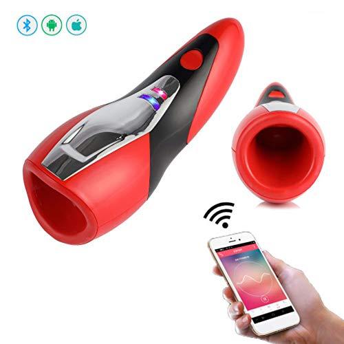 WLDDA Elektrischer Masturbator Pussy vibratoren für ihn Geiler Stimme Erektions masturbieren Mann automatisch Mund Vagina OralSexspielzeug mit 20 Vibrationmodi erotik Spielzeug