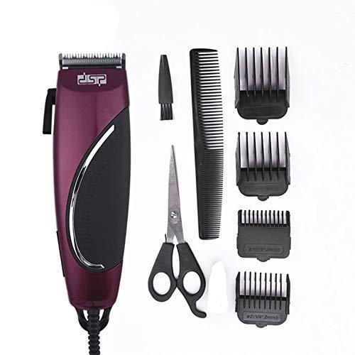 DSP Haarschneider, Einsetzbar als Trimmer, 5 Längen,Professionelle elektrische Haarschneidemaschine, (Rot)