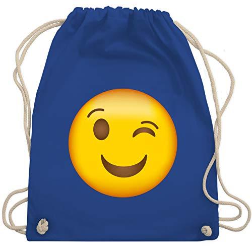 Comic Shirts - Zwinker Emoji - Unisize - Royalblau - WM110 - Turnbeutel & Gym Bag