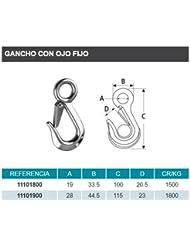 GANCHO CON OJO INOX 316 19mm