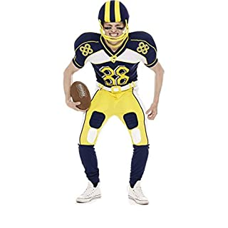 American Football Player Fancy Dress Costume (Inc Helmet and Ball)