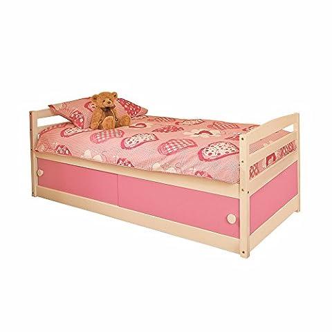 KIDS STORAGE BED PINK - 3ft SINGLE WOOD PINE