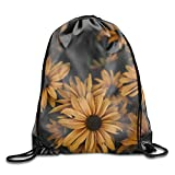 XLABDZ Drawstring Bags Osteospermum Flowers Yellow Blossom Oxford Fabric Shoulders Buggy Bag