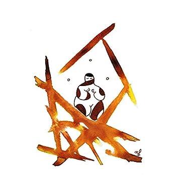 Olivier Cornil – Three meditations – Tuschezeichnung – 17 x 24 cm
