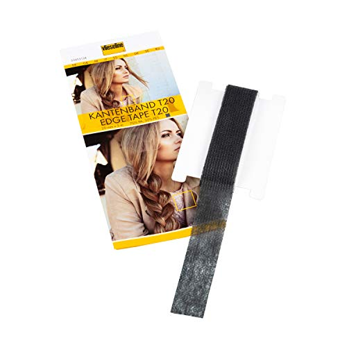Vlieseline Kantenband T20 SB 5m x 2cm, 70% PA, 30% PES, Grafit, 20 mm x 5 m (Klebeband-jacke)