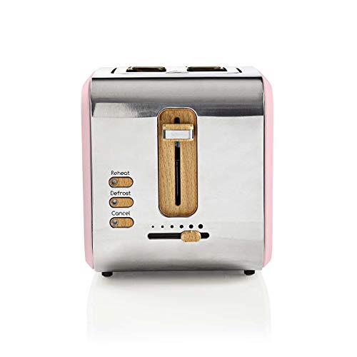 Nedis Toaster mit 2 Schlitzen, weich, Rosa