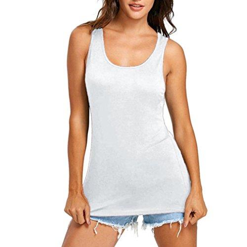 UFACE Verkaufsfreigabe American Flag Print Sleeveless Grundierung Shirt T-Shirt (XL, Weiß)