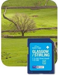 Satmap - Tarjeta con mapas de Gran Bretaña para GPS (escala 1:25000) Glasgow/Stirling Talla:1:25000