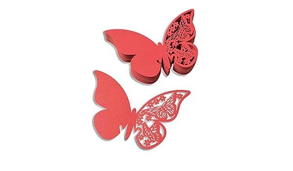 50 // 100 St mixed24 50 St Goldchampagne Tischkarten Schmetterling Namenskarten Platzkarten Hochzeitsdekoration Tischdeko