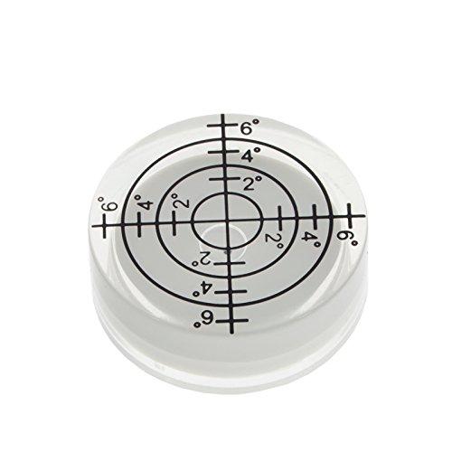 Smartfox Dosenlibelle Acryl mini Wasserwaage rund mit Gradzahlen und Fadenkreuz, Durchmesser 32 x 13 mm