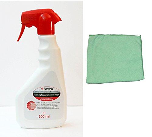 Kamin-, Backöfen-, Herd-, Grill-, Heizplatte Reiniger inkl. Microfasertuch (500 ml Sprühflasche)