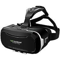 "3D VR Headset, ELEGIANT Universal 3D VR Brille Einstellbar Brille Video Movie Game Brille Virtual 3D Reality Glasses VR World Head Mounted für 3D Filme und Spiele für 4.7""-6"" Android IOS Iphone Samsung Galaxy Mega 2 / Galaxy Note 5 4 3 S6 S6 S8 Edge iPhone 8 6 6 Plus 7 7 Plus/ LG G3 / SONY Experia T2 Ultra / Xperia Z3 + / MOTO Nexus 6 / HTC One Max / Wunsch 816 / Die M9 / ASUS Zenfone 2 usw…"