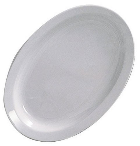 Thunder Group 12-Pack Narrow Rim Platter, 13-1/4 by 9 5/8-Inch, White by Thunder Group Narrow Rim