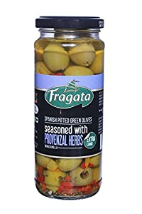 Fragata Spanish Pitted (Green) Olives with Provenzal Herbs Olives 330g