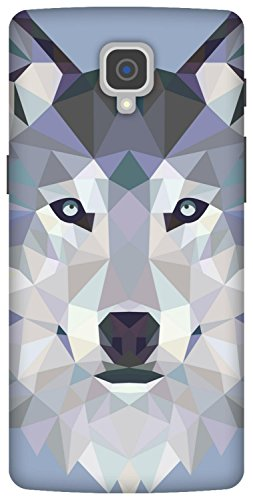 The Racoon Grip printed designer hard back mobile phone case cover for Oneplus 3. (Ice Wolf E)