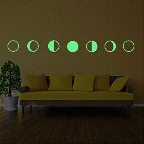 Gradient Glow -Wand -Aufkleber Mond - GlüHen Moon Glow Stick 21X29Cm