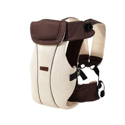 Portabebés delantero y trasero ajustables 4 posiciones de mochila mochila suave estructurado ergonómico para recién nacidos, bebés y niños pequeños Por GOMNEAR (marrón)