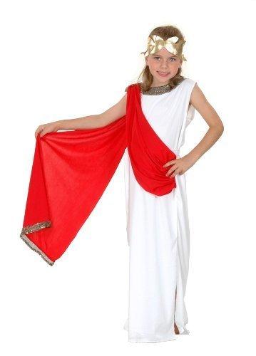 Kostüm Childs Toga Römischen - D/UP CHILD ROMAN GODDESS LARGE 10-12 YRS