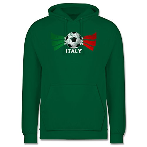 EM 2016 - Frankreich - Italy Fußball Vintage - Männer Premium Kapuzenpullover / Hoodie Grün