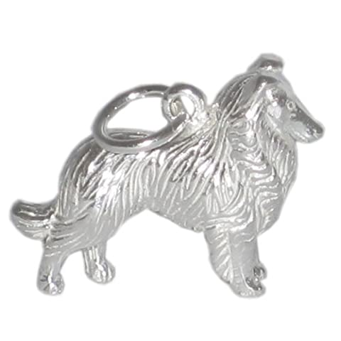 Collie Hund Sterling Silber Charm 925 X 1 Heimweh (Film Hunde Charms bj2057