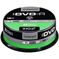 Intenso DVD-R 4.7GB, Printable, 16x - DVD+RW vírgenes (Printable, 16x, 4,7 GB, DVD-R, 120 min, Caja para pastel, 16x)