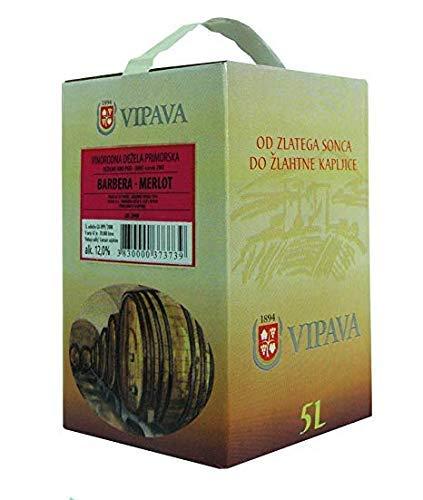Vipava 1894 Rotwein Bag in Box 5 Liter Rotwein Karton 5 L Cuvee rot - Barbera/Merlot Rotwein in Box 5 Liter (5 l)
