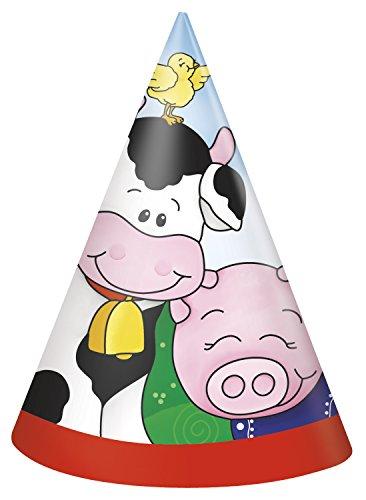 s Bauernhof Partyhüte, 8Stück ()