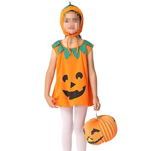 kMOoz Halloween Kostüm,Outfit Für Halloween Fasching Karneval Halloween Cosplay Horror Kostüm,Kinderkleid Rock Set Cosplay Kinderkleid Kürbis - Gute Partner Kostüm