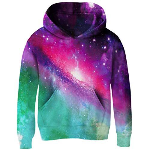 RAISEVERN Unisex Lustige 3D Gedruckt Pullover Hoodies Sweatshirts Taschen Sport Mit Kapuze für Mädchen Jungen S-XL 4-16 T
