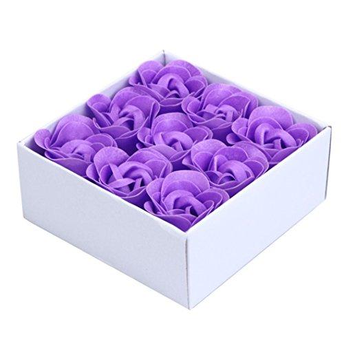 ITONG Bad Körper Blütenblatt Rose Blume Hochzeit Dekoration (10X10X4.5cm, Lila) (Bulk-rosenblätter)