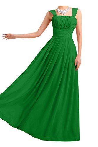 Gorgeous Bride Beliebt Traeger Empire Lang Chiffon Abendkleid Ballkleid Brautjungfernkleid Grün