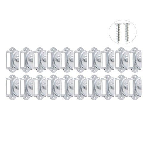 Saim Eisen Pull Griff Büro Bibliothek Datei Schublade Tag Rahmen Label Halter Silber Ton, YWFXJJ08161 (Label Zieht Für Schränke)