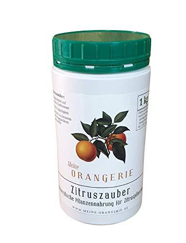 Meine Orangerie Zitruszauber - Professioneller Zitrusdünger - 1 kg Konzentriertes Nährsalz für Zitruspflanzen - Ideal für alle Zitrusgewächse und Olivenbäume
